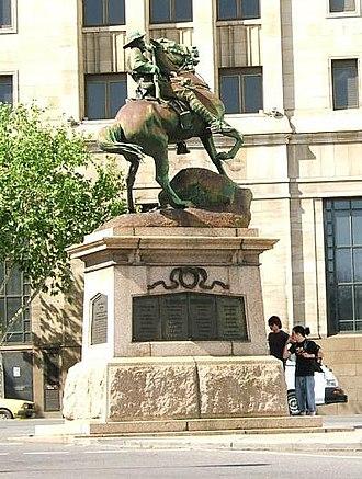 South African War Memorial (South Australia) - Image: Boer adelaide