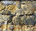 Borobudur - Divyavadana - 110 E, Maitrakanyaka meets with sixteen Nymphs (11705335444) (cropped 2).jpg