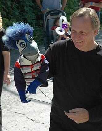 Stephen Brathwaite - Brathwaite with puppet Jacob Bluejay in 2006