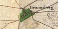 Braunsberg Urmesstischblätter 2942 2943-1825.png