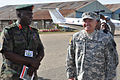 Brig. Gen. Silver Kayemba and Maj. Gen. William Nesbitt, Atlas Drop 11, Soroti, Uganda, April 2011.jpg