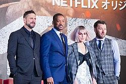 Bright Japan Premiere Red Carpet- David Ayer, Will Smith, Noomi Rapace & Joel Edgerton (38627429765).jpg