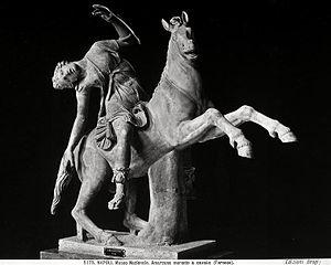 dying amazon on horseback