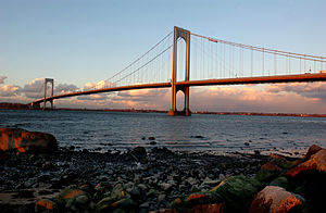 Whitestone, Queens - The Bronx-Whitestone Bridge as seen from Whitestone