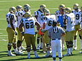 Bruins in huddle at UCLA at Cal 2010-10-09 1.JPG