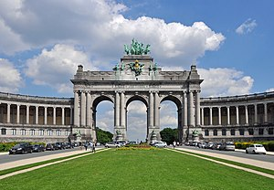 Leopold II of Belgium - The triumphal arch of the Cinquantenaire complex in Brussels