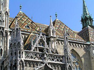 Frigyes Schulek - Patterned roof design of Schulek's restored Matthias Church