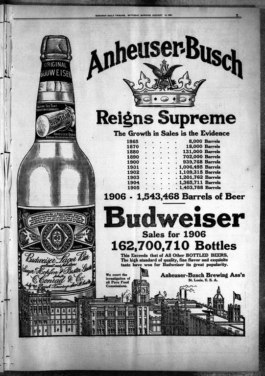 File:Budweiser ad 1907 with bottle pdf - Wikimedia Commons