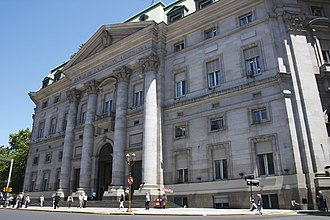 French Argentines - The Central Bank building in Buenos Aires.
