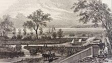 Schizzo di un porto nei primi anni del 1800