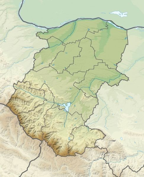 Файл:Bulgaria Montana Province relief location map.jpg