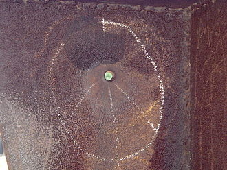 Kent State shootings - Image: Bullet Hole in Don Drumm Sculpture at Kent State