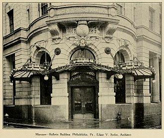 Philadelphia Bulletin - Philadelphia Bulletin Building, 1315-1325 Filbert Street, Philadelphia (Edgar Viguers Seeler, architect)