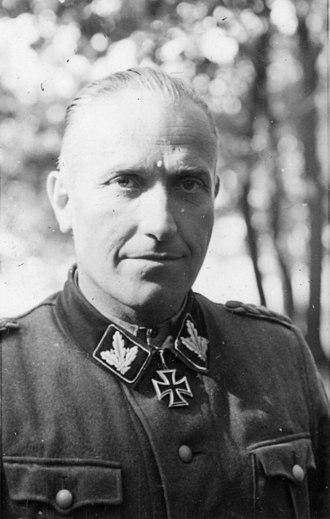Brigadeführer - Hermann Prieß here as SS-Brigadeführer and Generalmajor of the Waffen-SS