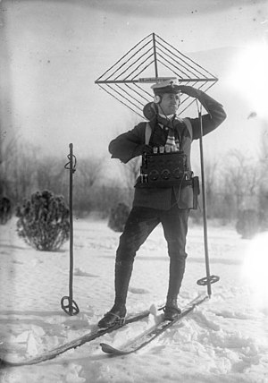 History of amateur radio - German amateur radio and ski enthusiast in 1924
