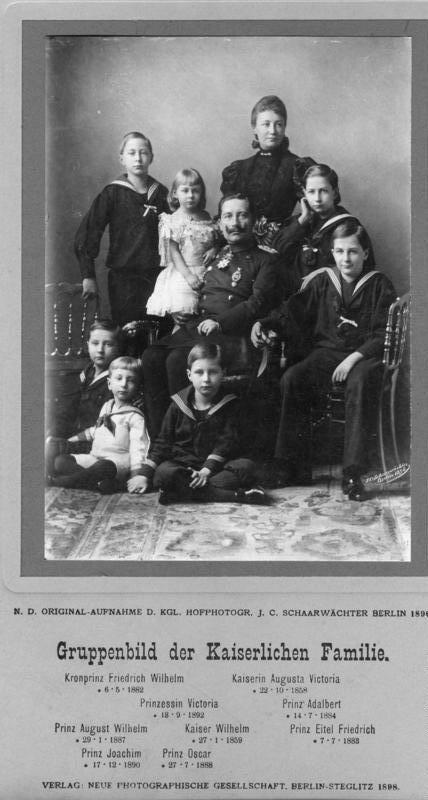 Bundesarchiv Bild 146-2008-0152A, Familie Kaiser Wilhelm II. 1896