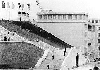 Zentralstadion (1956) - The Austrian Biedermeier architecture style (elegant, simple and symmetric)
