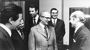 Enrico Berlinguer - Berlingue (left) with the East German leader Erich Honecker in 1973