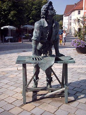 Johann Michael Fischer - A statue of Johann Michael Fischer in Burglengenfeld commemorates his birthplace