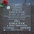 Burial place of Marian and Ewa Golczyk at Central Cemetery in Sanok (columbarium) 2014.jpg