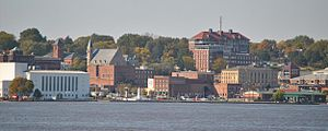 Burlington, Iowa - Skyline of Burlington from Mississippi River