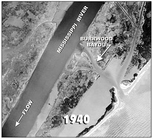 Burrwood, Louisiana - Burrwood Aerial photo taken in 1940
