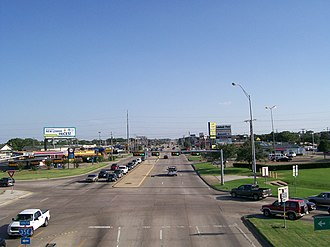 Texas State Highway 121 - SH 121 Business west from IH-35E towards Grapevine