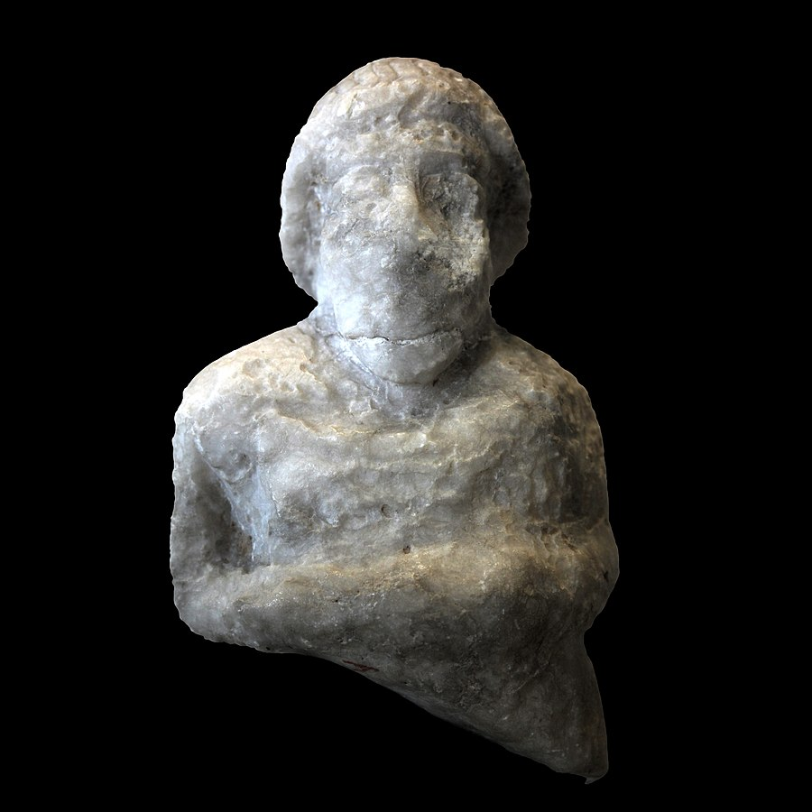 Bust of priest with animal sacrifice-Sb 91