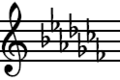 C-flat Major key signature.png