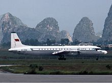 CAAC Ilyushin Il-18 Guilin Airport 1984 King.jpg