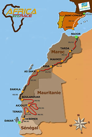 Africa Eco Race - 2012 Route