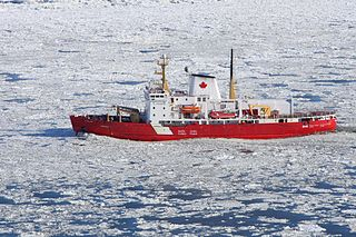 An icebreaker designed to operate in shallow waters such as rivers and estuaries