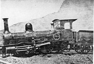 Cape Town Railway & Dock 0-4-2 - No. 4 Wellington, derailed during labour unrest