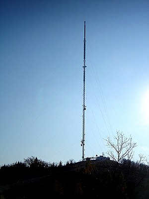 CKCO-DT - CKCO's transmission tower on Baden Hill.