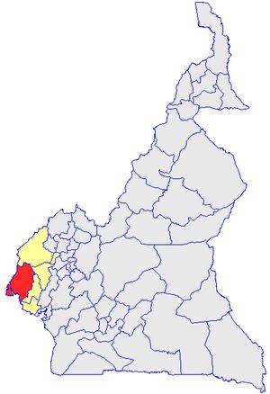 Ндиан на карте