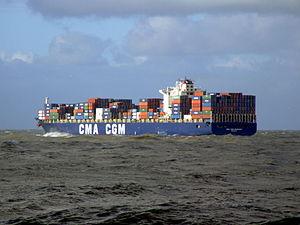 CMA CGM Debussy pB, leaving Port of Rotterdam, Holland 21-Jan-2007.jpg