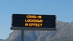 COVID19 sign N1 on highway Western Cape.jpg