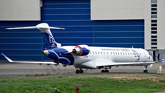 China Express Airlines - China Express Airlines CRJ900 at the Bombardier plant at Montreal-Mirabel
