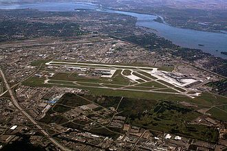 Montréal–Pierre Elliott Trudeau International Airport - Montreal-Trudeau overview as of 2010.