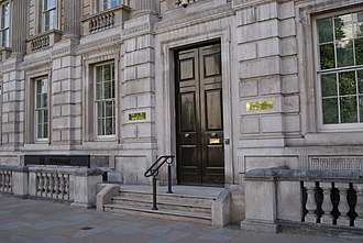 Cabinet Office - The entrance to the Cabinet Office.