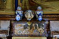 Cabinet of Chinese Coromandel lacquer, with ceramics - State Drawing Room, Chatsworth House - Derbyshire, England - DSC03185.jpg