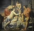 Caesar van Everdingen (ca.1617-1678) - Nimfen bieden de jonge Bacchus wijn, fruit en bloemen aan - Düsseldorf Museum Kunstpalast 15-08-2012 14-58-39.JPG
