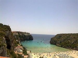 Cala en Porter Menorcan beach.jpg