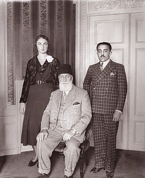 Abdulmejid II - Princess Dürrüşehvar Sultan, Princess of Berar; Caliph Abdulmecid II of the Ottoman Empire, and Nawab Azam Jah, Prince of Berar