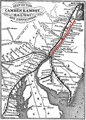 Glassboro–Camden Line - The ROW was originally built with the backing of the Camden and Amboy