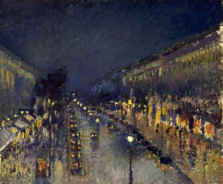 File:Camille Pissarro, The Boulevard Montmartre at Night, 1897.jpg