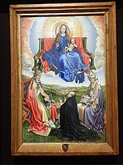 Virgin in Glory surrounded by St. Peter and St. Augustine