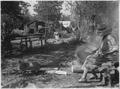 Camping scene at Laura Lake during wild rice harvest - NARA - 285213.tif