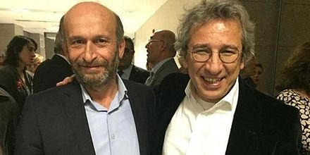 Turkish journalists Can Dundar and Erdem Gul were arrested for leaking classified information Can Dundar & Erdem Gul.jpg