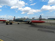 Canadair CT-133 Silver Star, older RCAF colour at the Alberta Aviation Museum